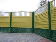 Забор железобетонный секционный - foto 1
